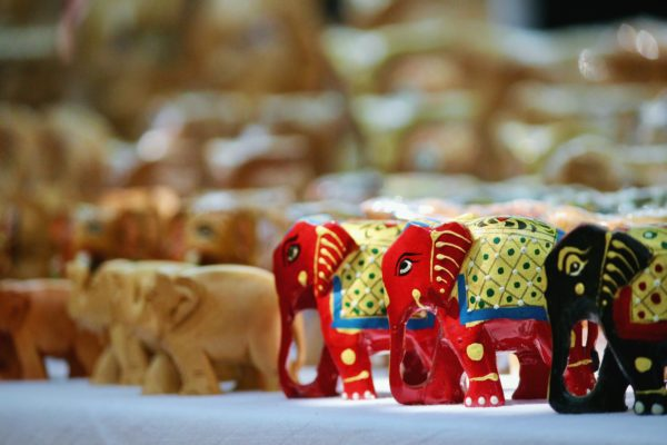 インドの象のオモチャ