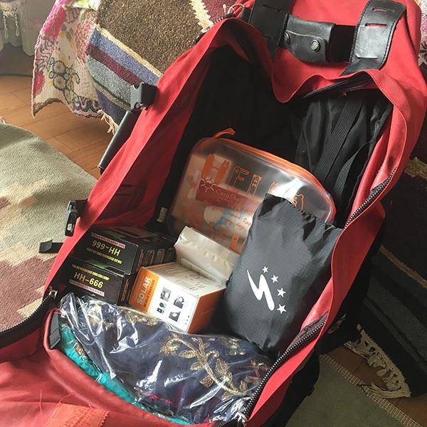 バックパックを全開したところ 荷物の出し入れがすごくしやすい
