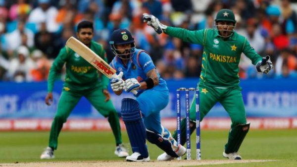2018年10月に行われたパキスタンとインドのクリケットマッチ