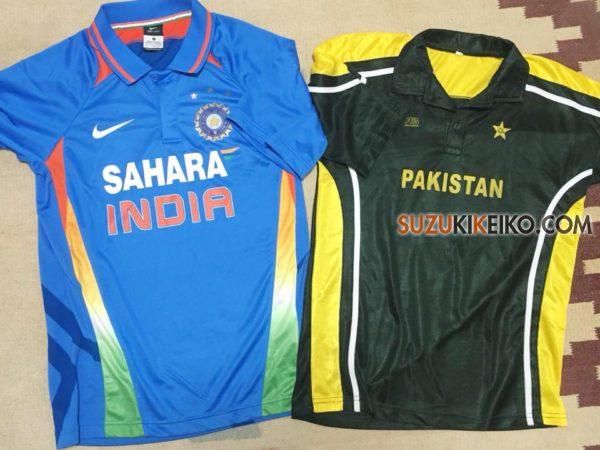 インドとパキスタンのクリケットのユニフォーム