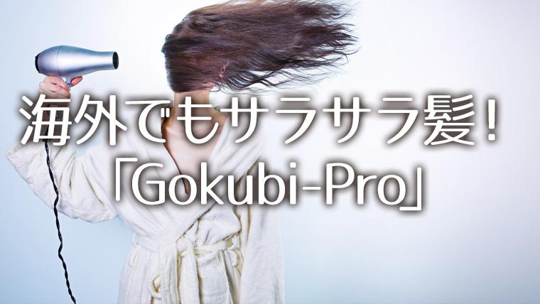 海外旅行でも髪の毛サラサラ 硬水にもおすすめシャンプー「Gokubi-Pro」