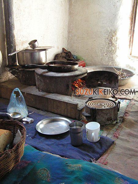 フンザの家の台所(かまど)