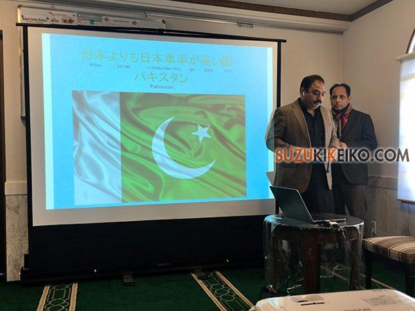 プロジェクターを使ってパキスタン紹介