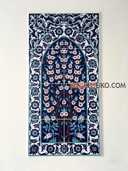 岐阜モスク 壁のタイル飾り