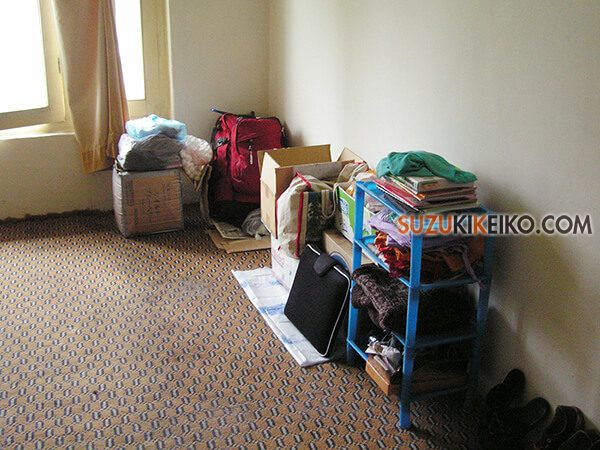 フンザに住んでいた時の全荷物全荷物