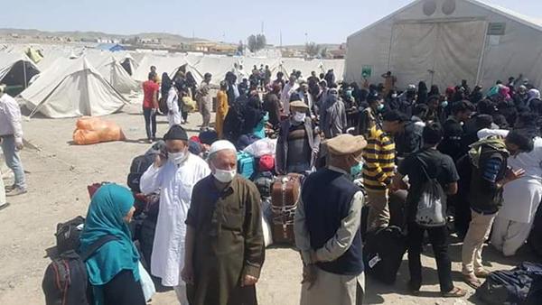 タフタンにある隔離キャンプ