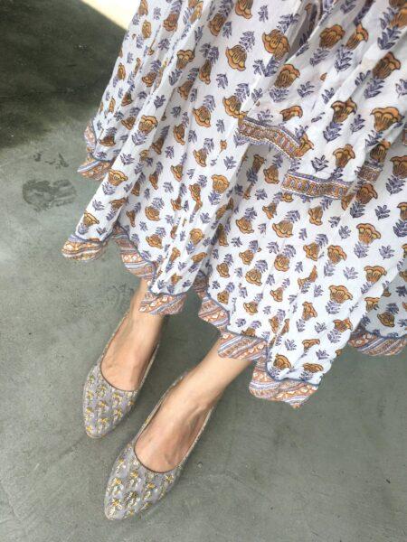 ブロックプリントが有名なインドのブランドanokhi(アノーキ)のスカート